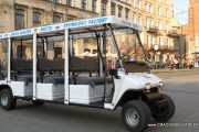 City tours by heated electric car